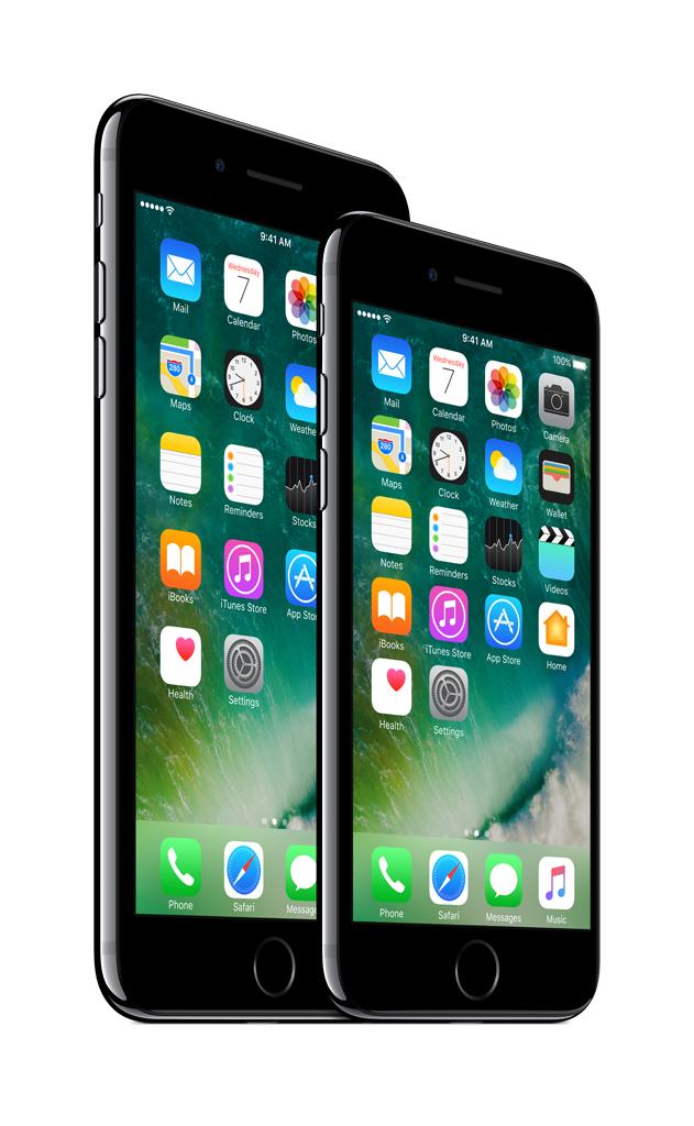 iPhone7 Plus a iPhone7 JetBlack